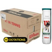 CARTON DE 18 TUBES DE 4 BALLES WILSON TOUR ALL COURT