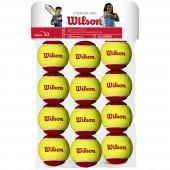 SACHET DE 12 BALLES WILSON STARTER RED