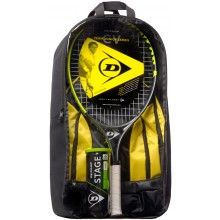 KIDS PACKAGE DUNLOP CV TEAM 25 (RAQUETTE 25 JUNIOR + SAC A DOS + TUBE DE 3 BALLES STAGE 3 GREEN)