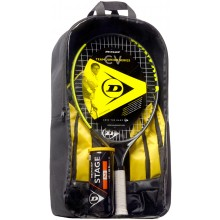 KIDS PACKAGE DUNLOP CV TEAM 23 (RAQUETTE JUNIOR 23 + SAC A DOS + TUBE DE 3 BALLES STAGE 2 ORANGE)