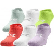 6 PAIRES DE CHAUSSETTES UNDER ARMOUR FEMME ESSENTIAL NO SHOW