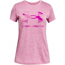 T-SHIRT UNDER ARMOUR JUNIOR FILLE GRAPHIC TWIST BIG LOGO