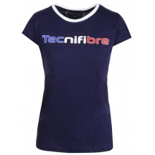 T-SHIRT TECNIFIBRE JUNIOR FILLE COTTON TRICOLORE