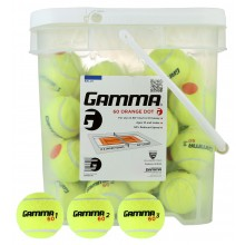 BARIL DE 48 BALLES DE TENNIS POINT ORANGE (STAGE 2) GAMMA