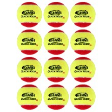 LOT DE 12 BALLES DE TENNIS QUICK KIDS STAGE 3 GAMMA