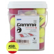 LOT DE 36 BALLES DE TENNIS QUICK KIDS STAGE 3 GAMMA