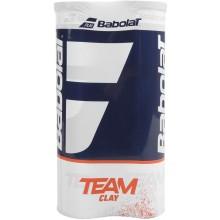 BIPACK DE 4 BALLES BABOLAT TEAM CLAY COURT