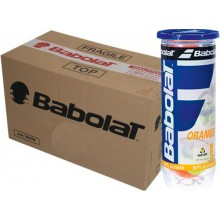 CARTON DE 24 TUBES DE 3 BALLES BABOLAT ORANGE