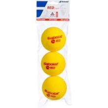 SACHET DE 3 BALLES BABOLAT RED FOAM
