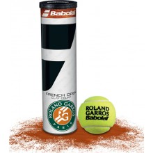 TUBE DE 4 BALLES BABOLAT FRENCH OPEN CLAY COURT