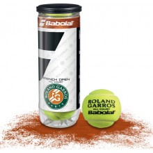 TUBE DE 3 BALLES BABOLAT FRENCH OPEN ALL COURT