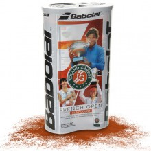 BIPACK DE 4 BALLES BABOLAT FRENCH OPEN CLAY COURT