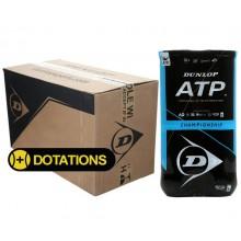 CARTON DE 9 BIPACKS DE 4 BALLES DUNLOP ATP CHAMPIONSHIP