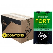 CARTON DE 9 BIPACKS DE 4 BALLES DUNLOP FORT TOURNAMENT SELECT