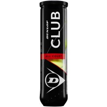 TUBE DE 4 BALLES DUNLOP CLUB ALL COURT