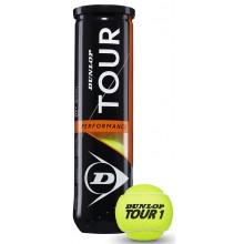 TUBE DE 4 BALLES DUNLOP TOUR PERFORMANCE