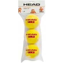 SACHET DE 3 BALLES EN MOUSSE HEAD TIP FOAM ROUGE