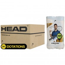 CARTON DE 18 BIPACKS DE 4 BALLES HEAD TOUR XT