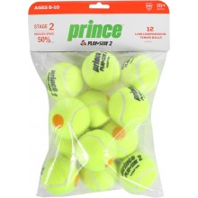 SACHET DE 12 BALLES PRINCE MINI TENNIS PLAY & STAY STAGE 2