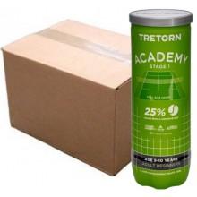 CARTON DE 24 TUBES DE 3 BALLES TRETORN ACADEMY GREEN