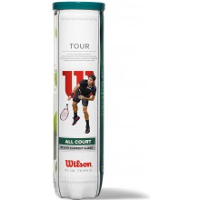 TUBES DE 4 BALLES WILSON TOUR ALL COURT