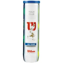 TUBE DE 4 BALLES WILSON TOUR CLUB