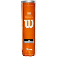 TUBE DE 4 BALLES WILSON TOUR CLAY