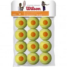 SACHET DE 12 BALLES WILSON STARTER ORANGE
