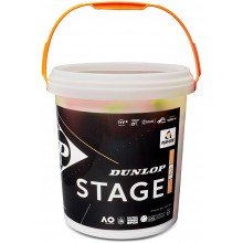 BARIL DE 60 BALLES DUNLOP STAGE 2 ORANGES