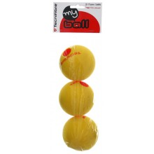 TECNIFIBRE LOT DE 3 BALLES MOUSSE MY BALL