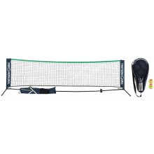 KIT TRETORN GAME COMPLETE : FILET TENNIS/BADMINTON + 2 RAQUETTES DE TENNIS JUNIOR 21 + 2 BALLES RED