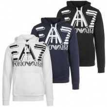 SWEAT EA7 TRAINING FUNDAMENTAL SPORTY LOGO A CAPUCHE