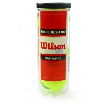 TUBE DE 3 BALLES DE PADEL WILSON RUSH 100