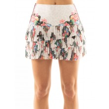 JUPE LUCKY IN LOVE HI ANIMAL FEVER PLEATED SCALLOP
