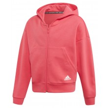 SWEAT A CAPUCHE ADIDAS ZIPPE TRAINING JUNIOR FILLE MUST HAVE 3S