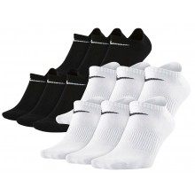 6 PAIRES  DE CHAUSSETTES NIKE NO SHOW LIGHTWEIGHT EVERYDAY EXTRA BASSES