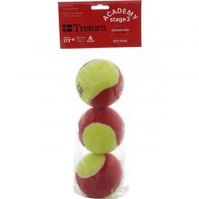PACK DE 3 BALLES TRETORN ACADEMY RED
