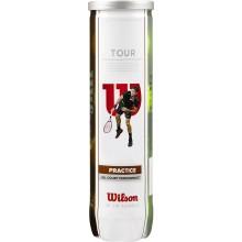 TUBE DE 4 BALLES WILSON TOUR PRACTICE