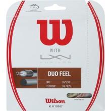 CORDAGE WILSON DUO FEEL:  LUXILON ELEMENT & WILSON NXT 1.25 (12.20 METRES)