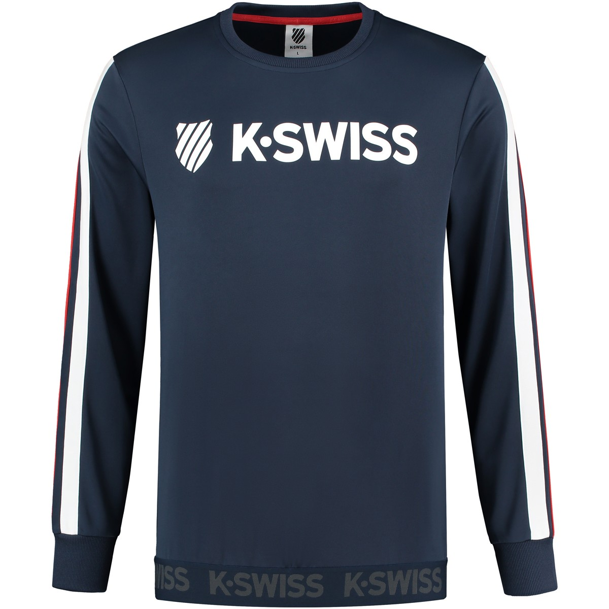 PULL K-SWISS HERITAGE LOGO MANCHES LONGUES