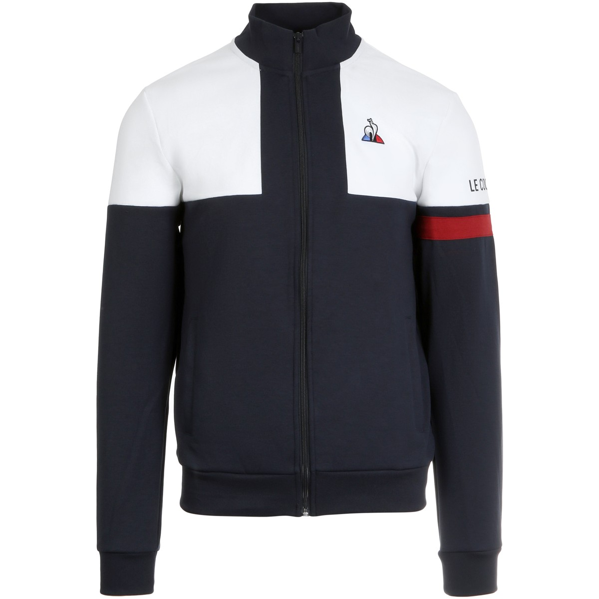 SWEAT LE COQ SPORTIF ZIPPE TRICOLORE N°1