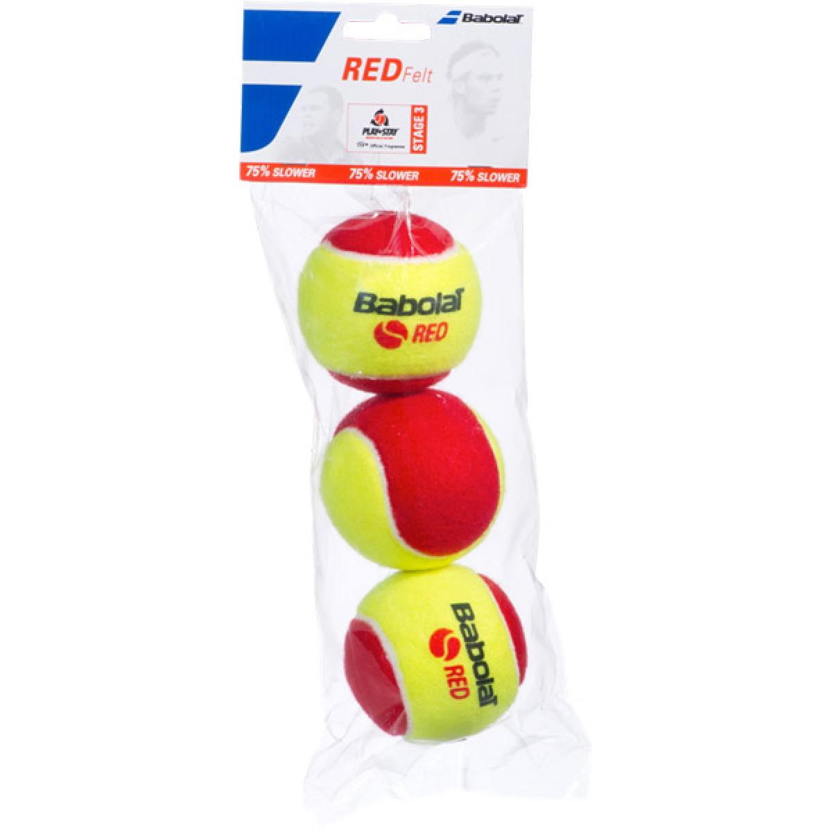 SACHET DE 3 BALLES BABOLAT RED FELT