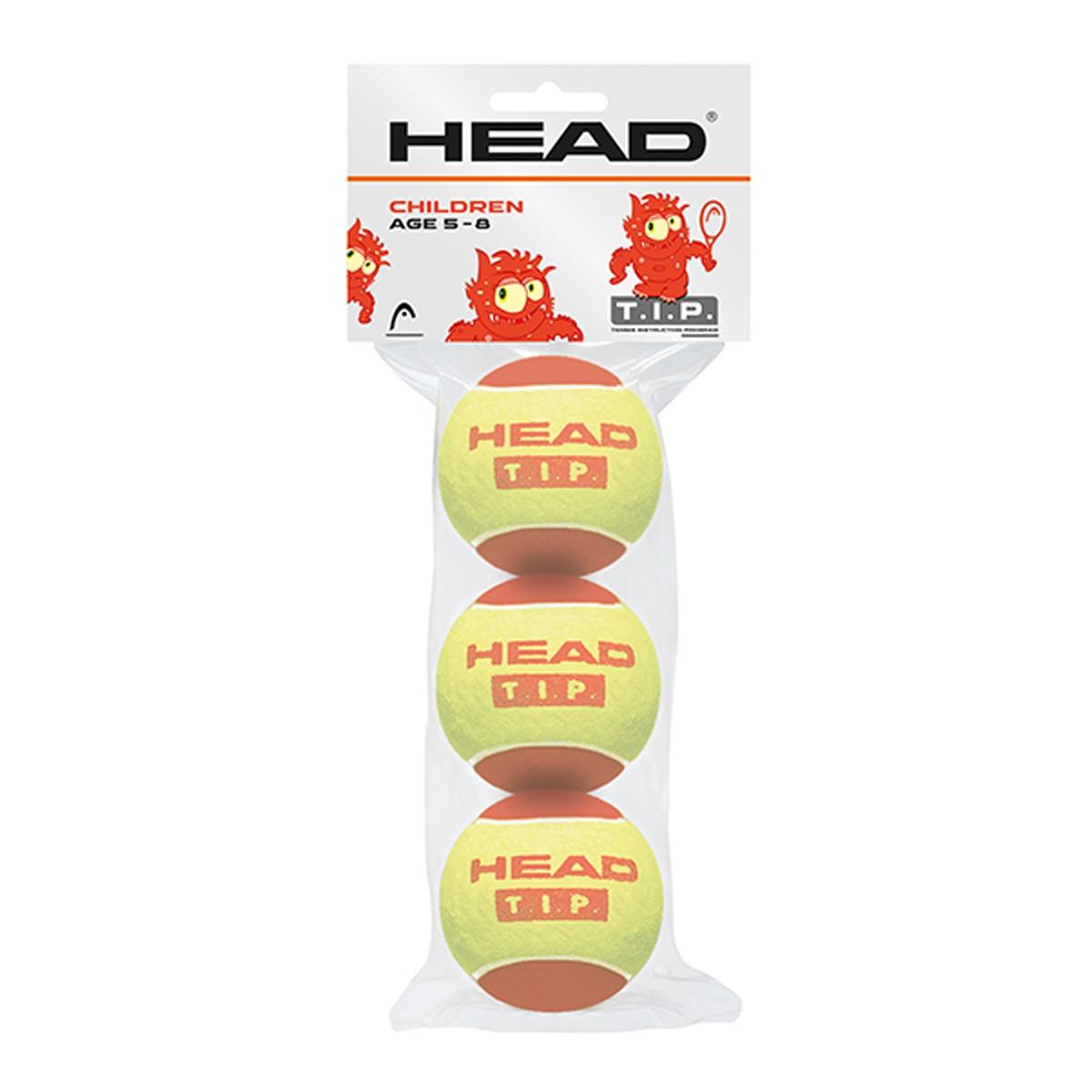 SACHET DE 3 BALLES HEAD TIP ROUGE