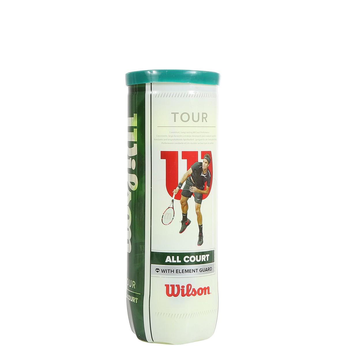 TUBE DE 3 BALLES WILSON TOUR ALLCOURT