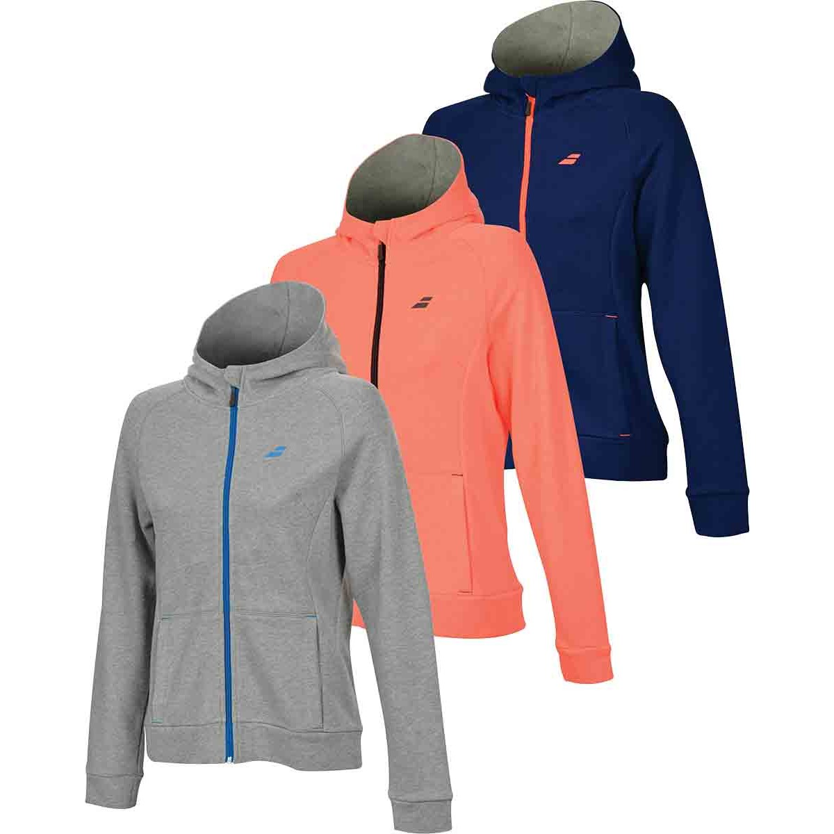 SWEAT A CAPUCHE ZIPPE BABOLAT JUNIOR FILLE CORE CLUB