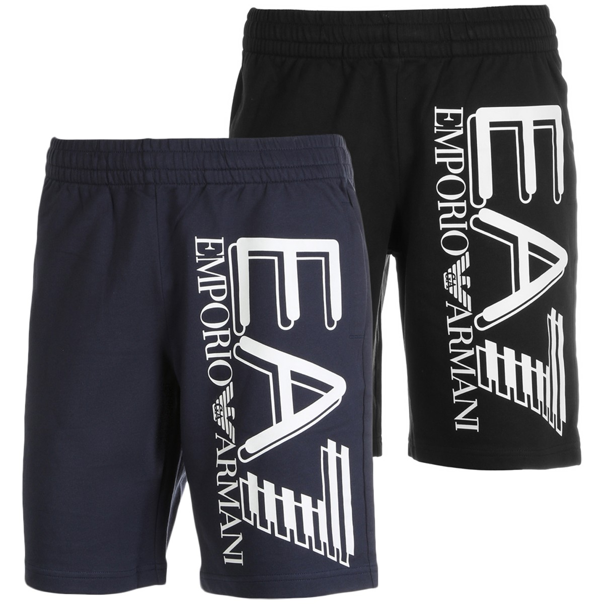 BERMUDA EA7 TRAINING FUNDAMENTAL SPORTY LOGO