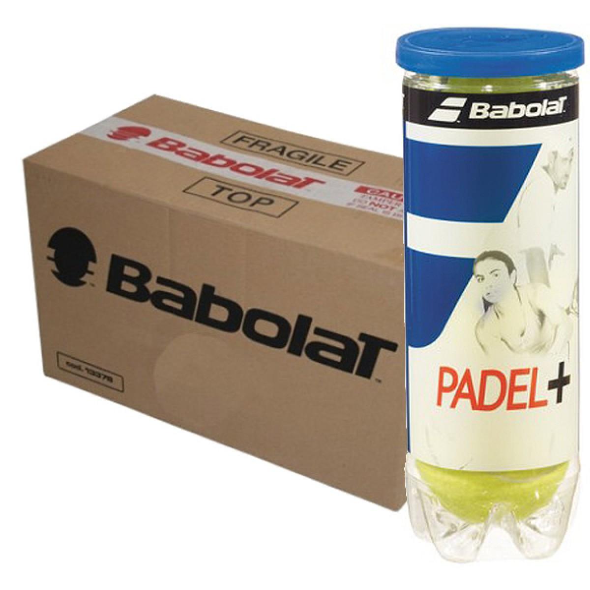 CARTON DE 24 TUBES DE 3 BALLES DE PADEL BABOLAT PADEL+