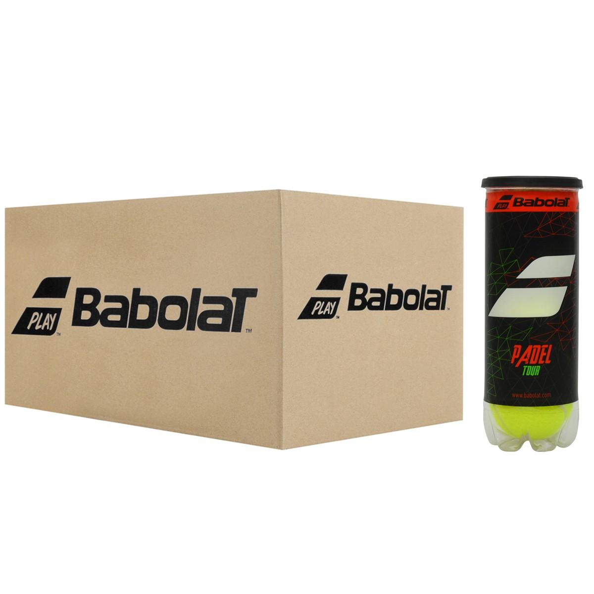 CARTON DE 24 TUBES DE 3 BALLES DE PADEL BABOLAT PADEL TOUR
