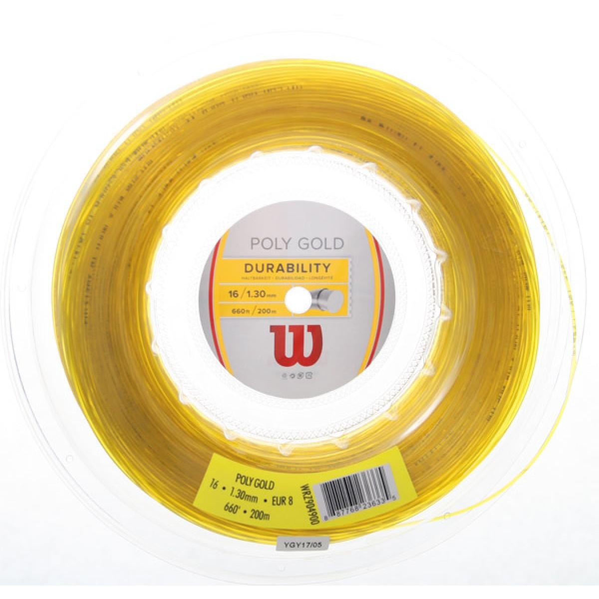 BOBINE WILSON POLY GOLD (200 METRES)