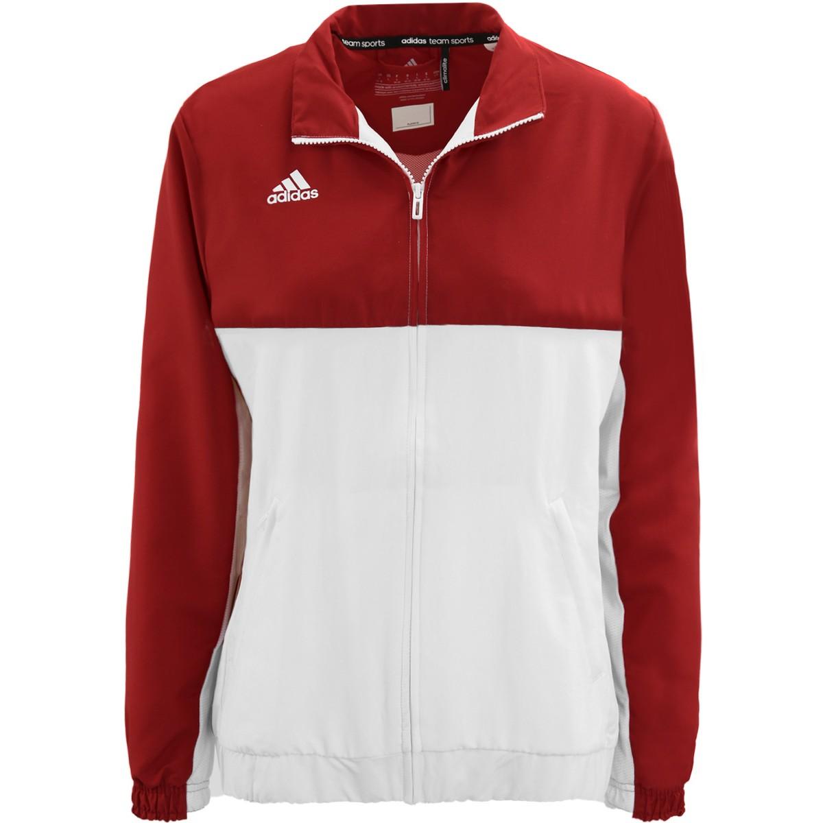 veste adidas rouge et blanche femme